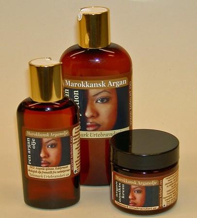Ansiktskrem, bodylotion og olje