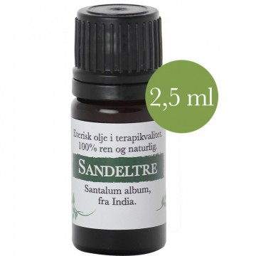 2,5ml Sandeltre (Santalum album) fra India