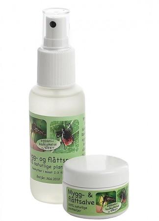 Mygg og flått- spray og salve